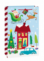 Colourful Santa Jumbo Gift Bag (1)